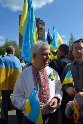 Хода мирных людей у Краматорську, фото 1