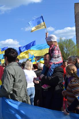 Хода мирных людей у Краматорську, фото 2