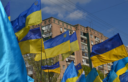 Хода мирных людей у Краматорську, фото 4