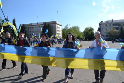 Хода мирных людей у Краматорську, фото 7