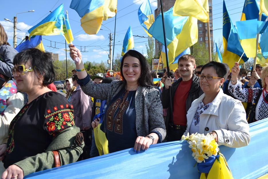 Хода мирных людей у Краматорську, фото 8