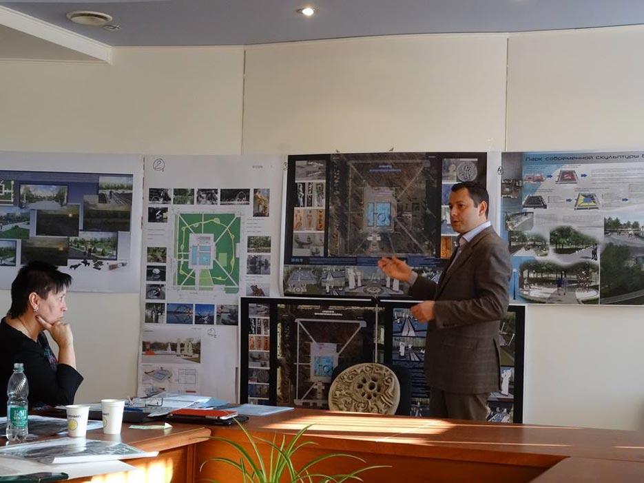 Робота комісії підведення підсумків Конкурсу на розробку кращого архітектурно-планувального рішення «Парку сучасної скульптури» у Сквері Профспілок