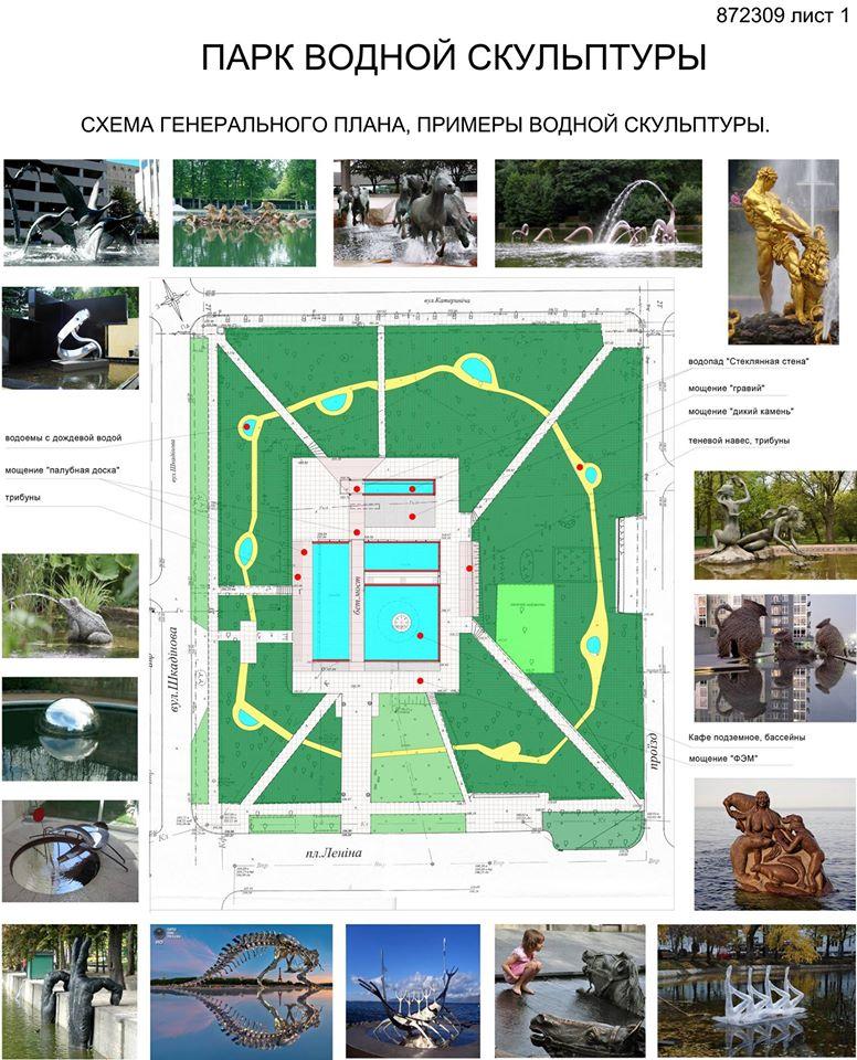 Парк сучасної скульптури Краматорськ Проект 6-1