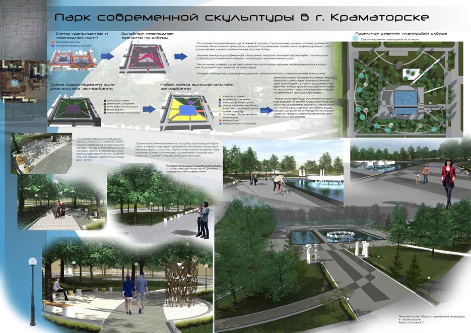 Парк сучасної скульптури Краматорськ Проект 4