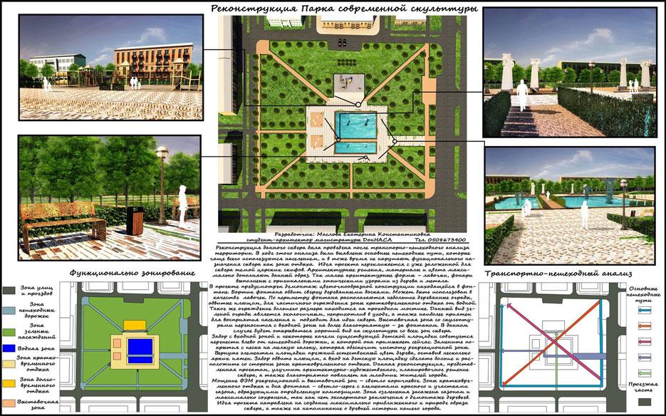 Парк сучасної скульптури Краматорськ Проект 2